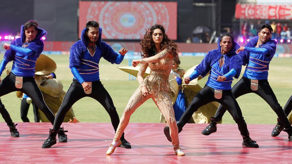 Disha Patani was the star performer at the IPL opening ceremony in Indore.  (BCCI)