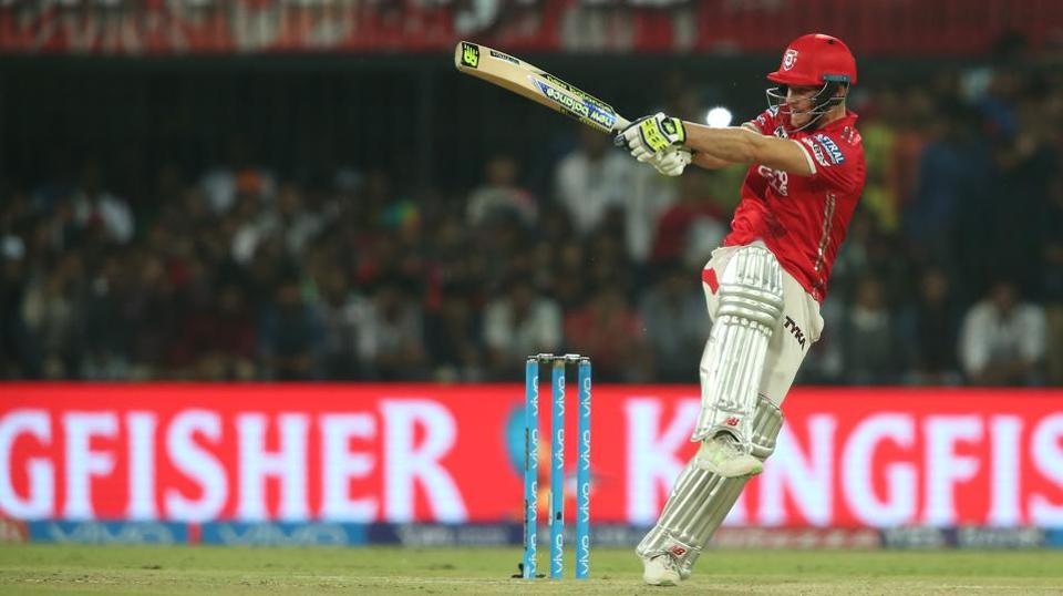 David Miller of Kings XI Punjab pulls during the Indian Premier League match against Rising Pune Supergiants in Indore on Saturday.  (bcci)