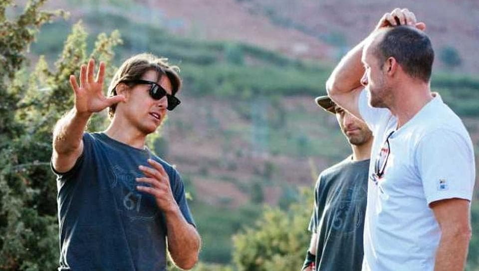 Tom Cruise while shooting for Mission Impossible: Ghost Protocol in 2015.