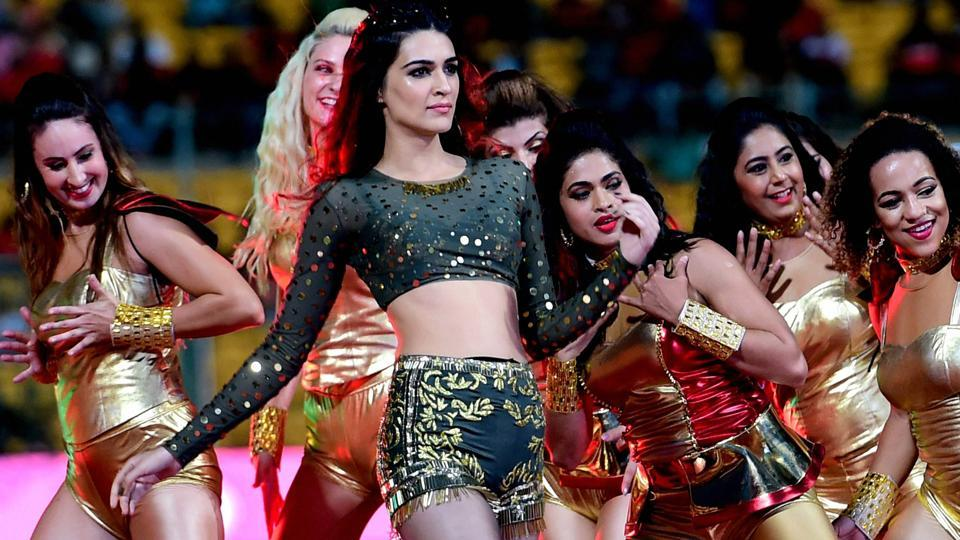Bollywood actress Kriti Sanon was the main attraction at the IPL opening ceremony. (PTI)