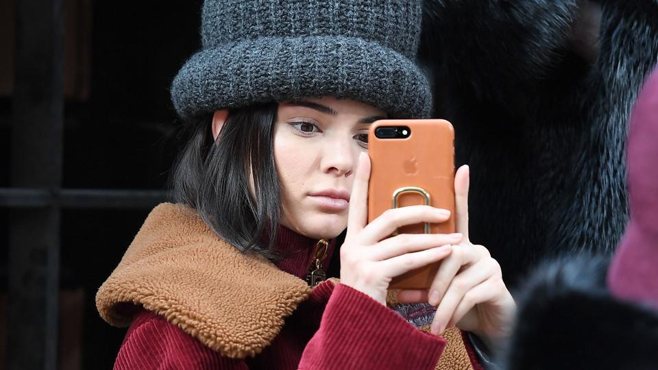 Kendall Jenner attends the Marc Jacobs collection during New York Fashion Week on February 16, 2017.
