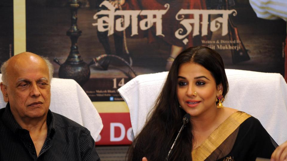 Actress Vidya Balan, Director and Producer - Mahesh Bhatt addressing media for the promotion of film