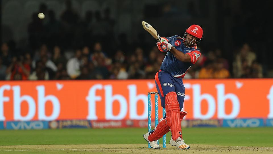 Rishabh Pant en route to his fifty against Royal Challengers Bangalore. (BCCI)