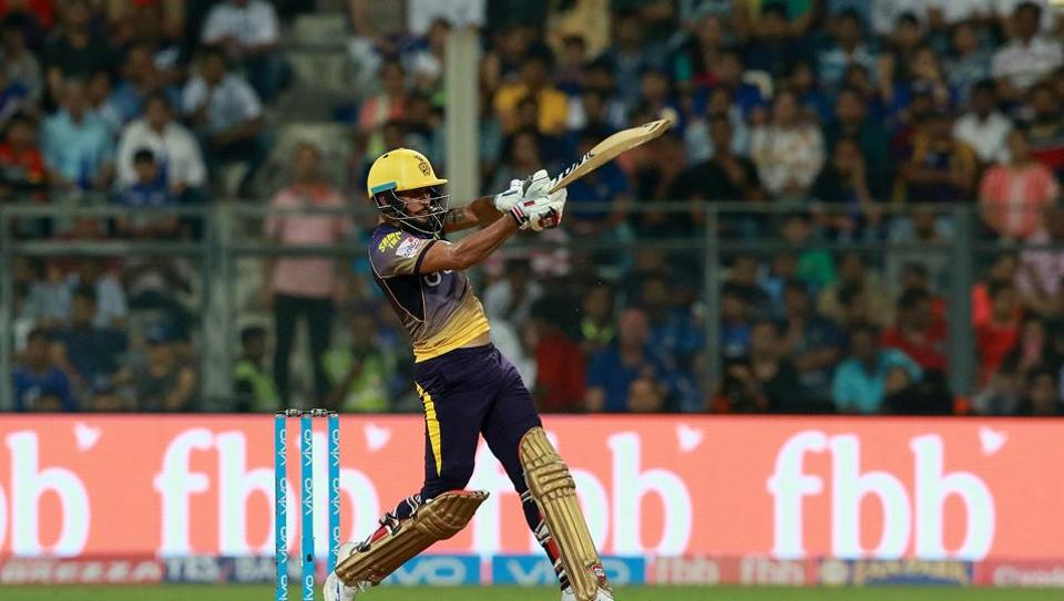 Manish Pandey blasted 81 off 47 balls to propel Kolkata Knight Riders to 178/7 against Mumbai Indians in the 2017 Indian Premier League clash at the Wankhede stadium.