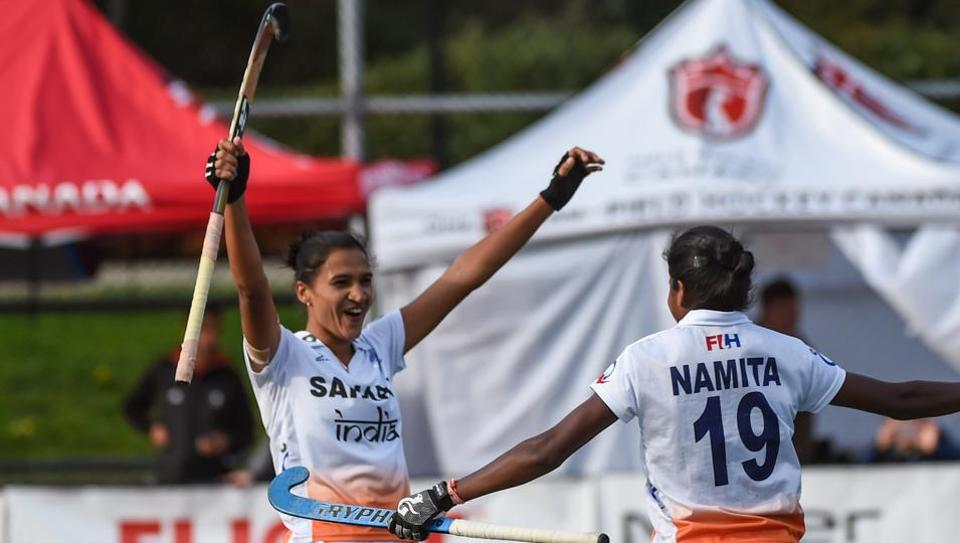 India defeated Chile 3-1 in the shootout in Sunday's final to clinch the Women's Hockey World League Round 2 title.