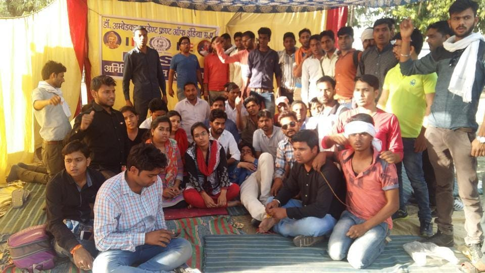 Students of Jiwaji University, Gwalior.