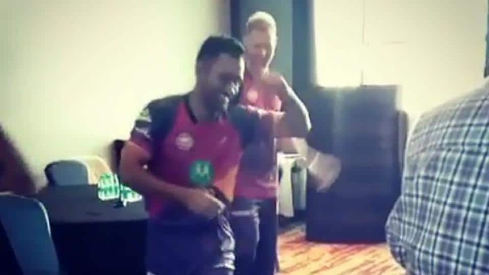 MS Dhoni  posted a video of him dancing with his Rising Pune Supergiants teammates a day after their second match in the 2017 Indian Premier League (IPL).