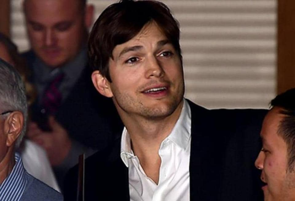 Ashton Kutcher received the Robert D Ray Pillar of Character Award at the Ron Pearson Center in West Des Moines in his native Iowa.