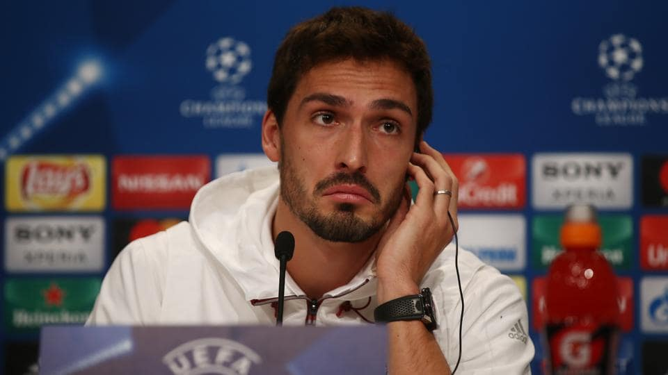 Bayern Munich's Mats Hummels during the press conference Reuters / Michael Dalder Livepic