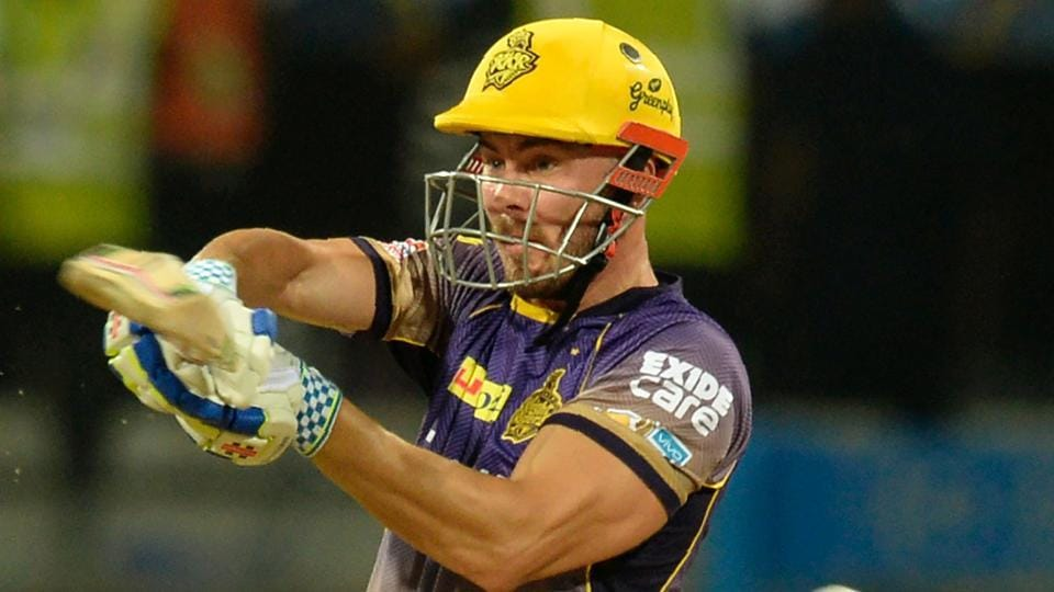 Kolkata Knight Riders batsman Chris Lynn plays a shot during the 2017 Indian Premier League (IPL) Twenty20 cricket match against Mumbai Indians at the Wankhede Stadium in Mumbai on Sunday.