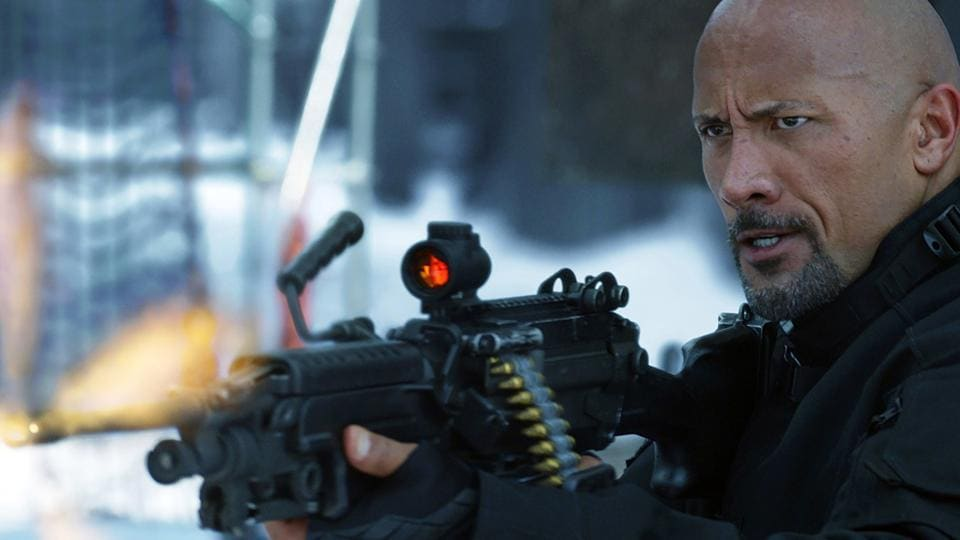 This image released by Universal Pictures shows Dwayne Johnson in The Fate of the Furious. (Universal Pictures via AP)