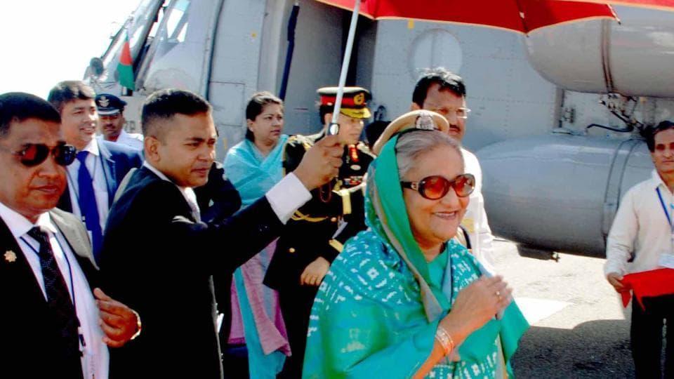 Bangladesh Prime Minister Sheikh Hasina in Ajmer on Sunday.