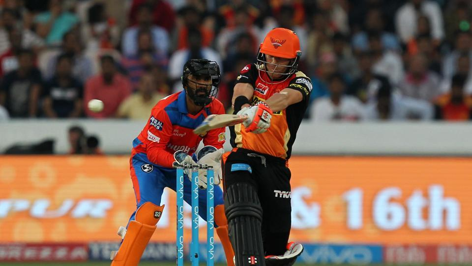 Warner continued in his aggressive vain as he took Sunrisers Hyderabad closer to victory. (BCCI)