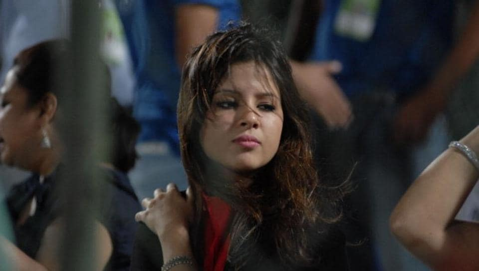 Sakshi Singh was often seen cheering her husband MS Dhoni and the Chennai Super Kings team in IPL matches. [File photo]