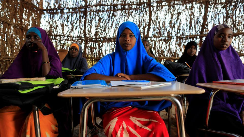Zeinab, 14, attends a class. A similar drought in 2011, exacerbated by years of civil war, sparked the world's last famine, which killed 260,000 people. Now the country teeters on the brink again. (Zohra Bensemra/REUTERS)