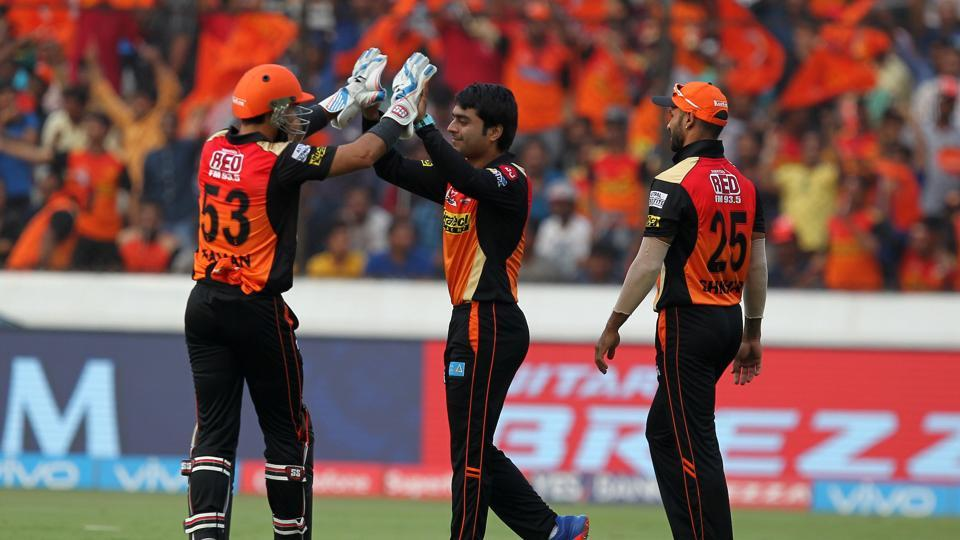 Rashid Khan ran through the middle order by picking up Brendon McCullum, Aaron Finch and Suresh Raina to finish with 3/19. (BCCI)