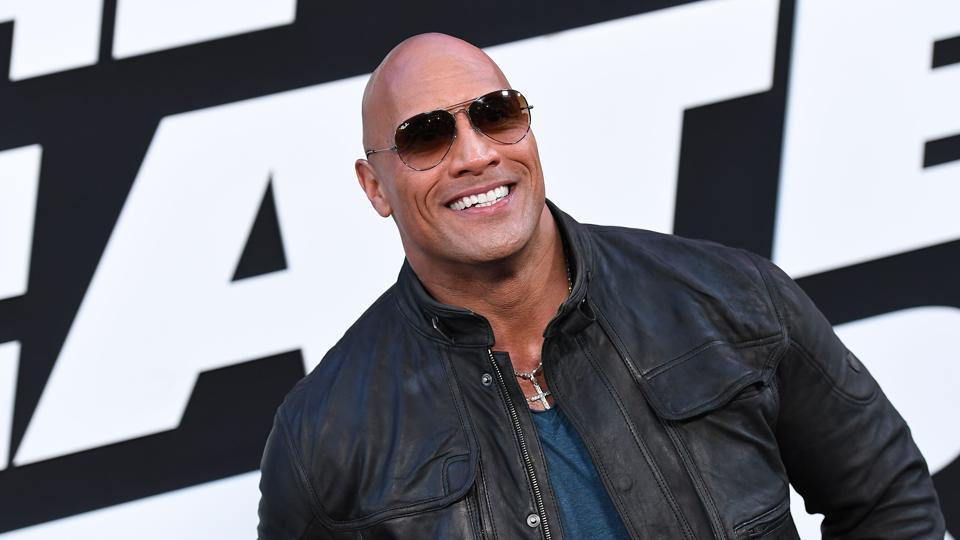 Actor Dwayne Johnson attends the premiere of Universal Pictures' The Fate Of The Furious at Radio City Music Hall in New York City. (AFP)
