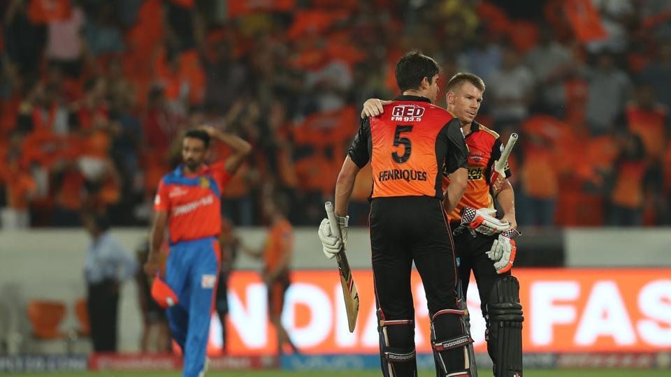 Sunrisers Hyderabad registered a nine-wicket win over Gujarat Lions, which was their second consecutive win. (BCCI)