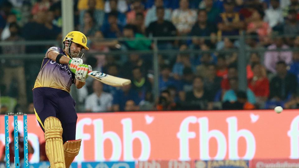 Gautam Gambhir started off solidly as KKR took advantage of some loose bowling from Mumbai. (BCCI)