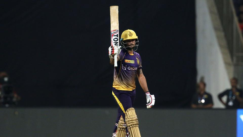 Manish Pandey revived the KKR innings and slammed his eighth IPL fifty. (BCCI)