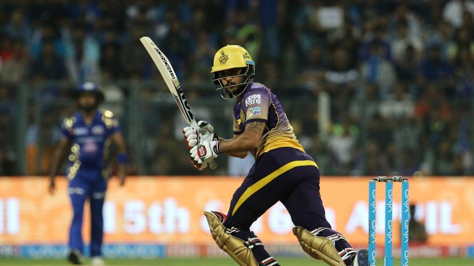 Manish Pandey blasted 81 off 47 balls as KKR finished on 178/7. (BCCI)