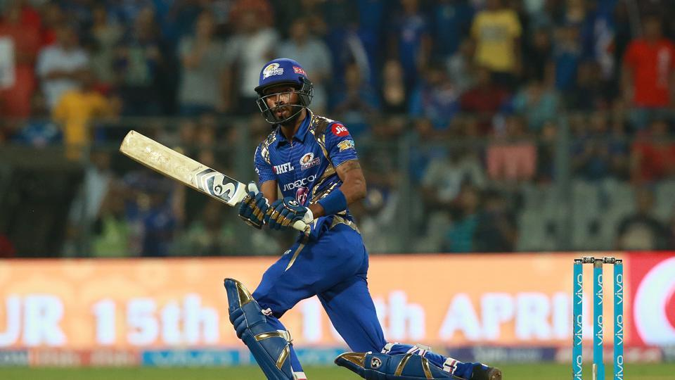 Hardik Pandya held his nerve as Mumbai Indians closed in on the win. (BCCI)
