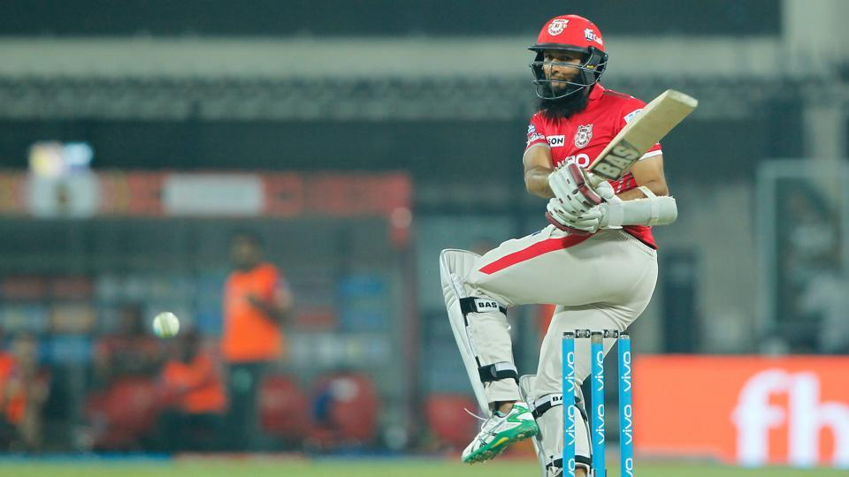 Hashim Amla slammed his second fifty as Kings XI Punjab defeated Royal Challengers Bangalore by eight wickets. Get full cricket score of Kings XI Punjab vs Royal Challengers Bangalore here