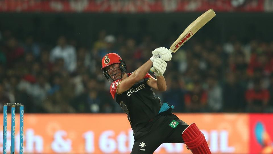 AB de Villiers' 89* helped Royal Challengers Bangalore reach 148/4 after the end of 20 overs. (BCCI)