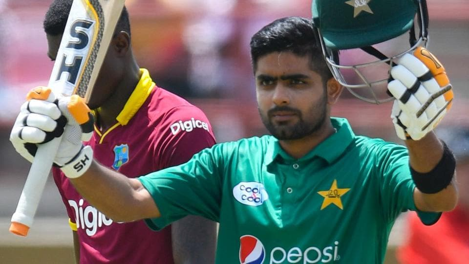 Babar Azam scored his fifth ODIcentury against West Indies on Sunday.