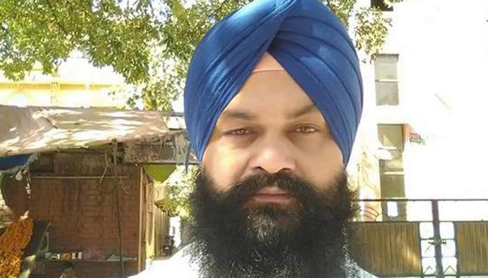 The deceased Hoshiarpur sarpanch Satnam Singh.