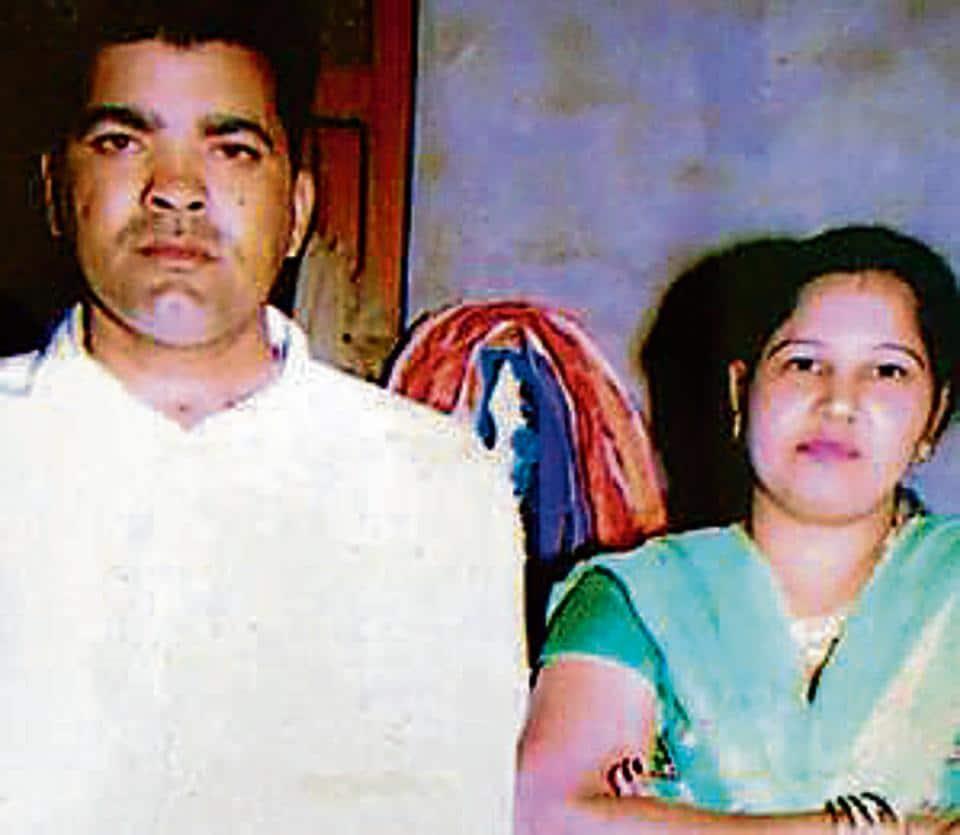 Subedar Major Anoop and his wife Sheela