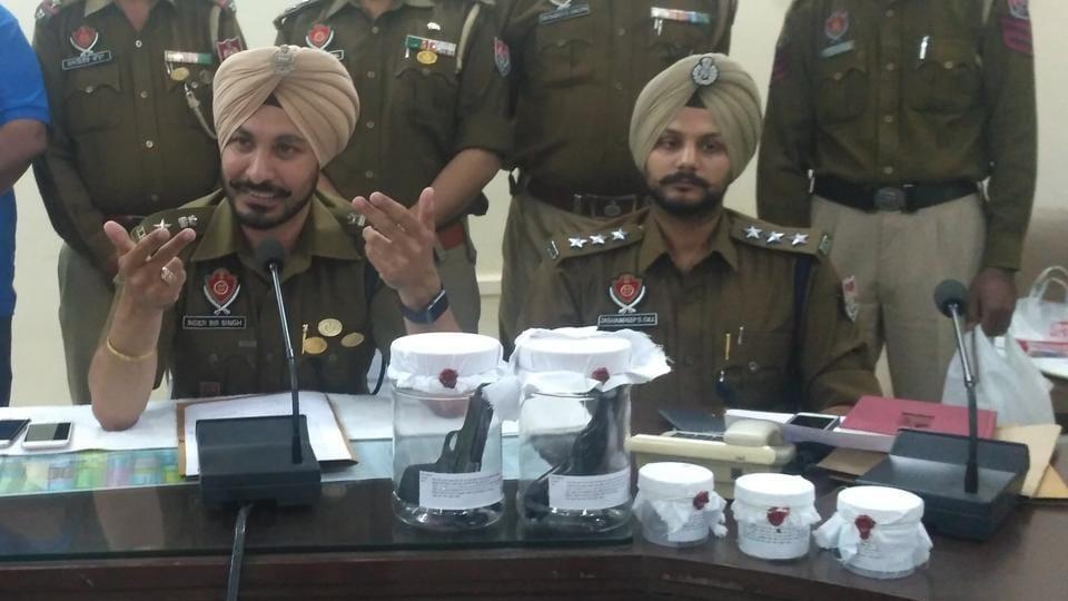 SSP Inderbir Singh and DSP Jashandeep Singh Gill.