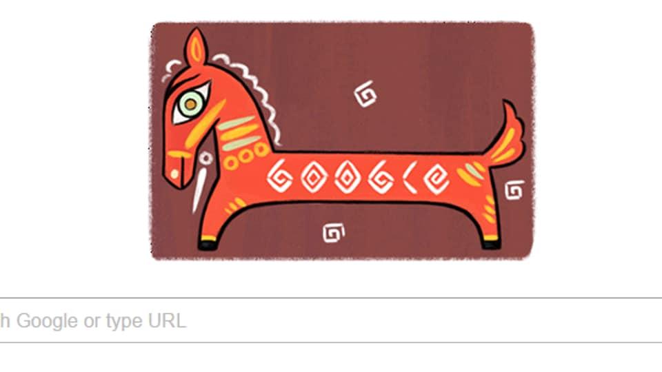 Google Doodle,Jamini Roy,Indian artist