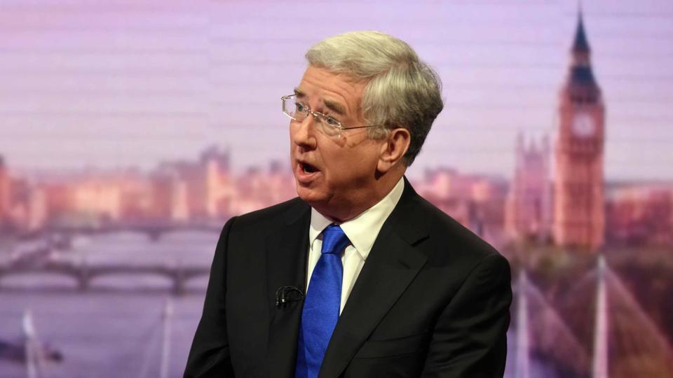 Britain's defence secretary Michael Fallon.