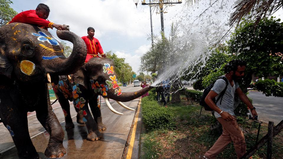 Local versions of Songkran are also observed in Cambodia, Laos, Burma and amongst ethnic minorities in Yunnan, southern China and Arunachal Pradesh and Assam in India. (Chaiwat Subprasom  / Reuters)