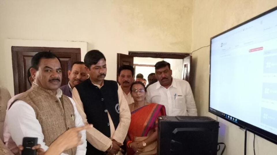 Forest minister Harak Singh Rawat with the officials in Ramnagar on Tuesday.