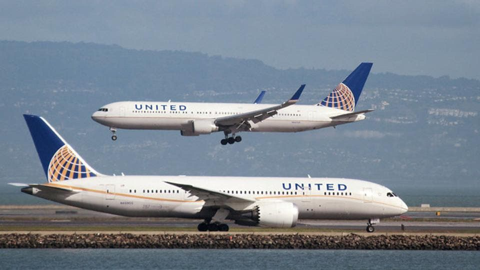 The incident occurred Sunday on a United Express flight bound for Louisville, Kentucky, from Chicago.