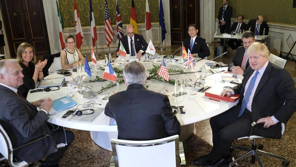 Foreign ministers from the Group of Seven industrialized nations are gathering in Lucca for a meeting given urgency by the chemical attack in Syria and the U.S. military response, with participants aiming to pressure Russia to end its support for President Bashar Assad.