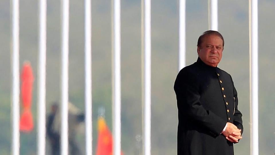 Pakistan's Prime Minister Nawaz Sharif attends the Pakistan Day military parade in Islamabad. Sharif said that cooperation, rather than conflict and shared prosperity, rather than mutual suspicion, is the hallmark of Pakistan's policy.