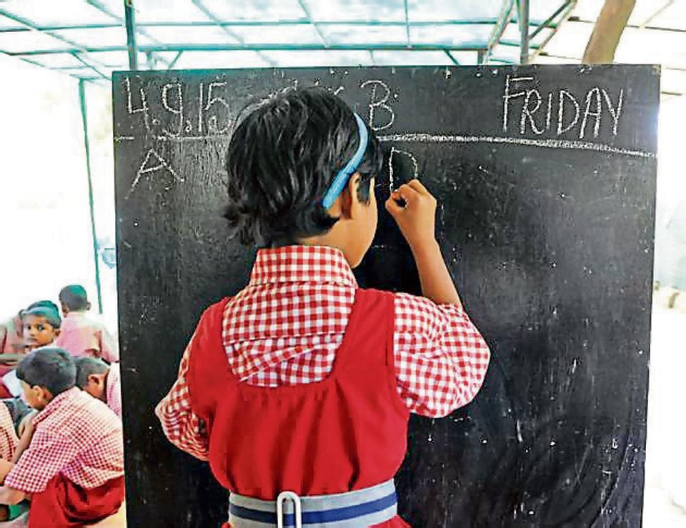 .There are around 50 other people living in east Delhi and admitted in different private schools in the area, where children have been going to schools without books.
