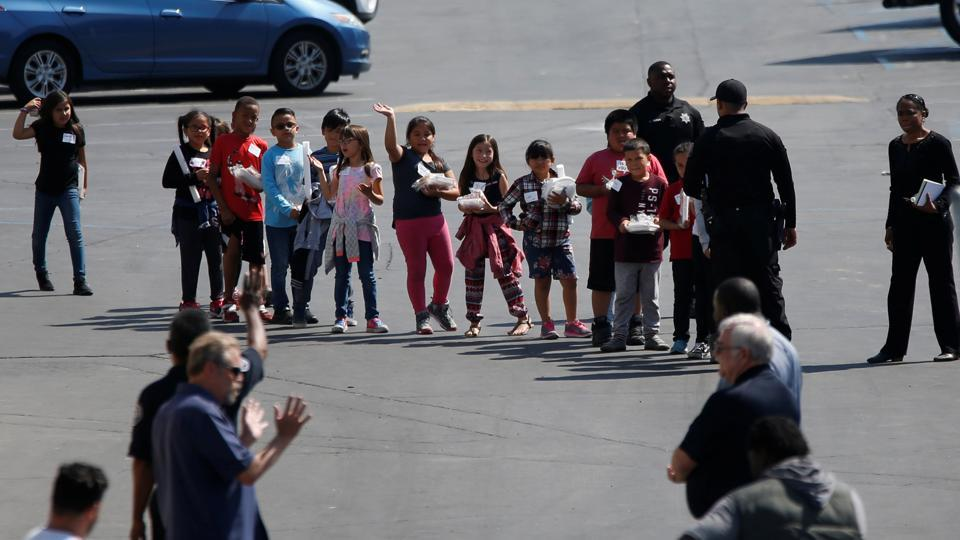 Cedric Anderson, 53, shot his wife, Elaine Smith, a 53-year-old teacher in a special-needs classroom for students in the first through fourth grades, according to Jarrod Burguan, chief of the San Bernardino police department.  (Mario Anzuoni/REUTERS)