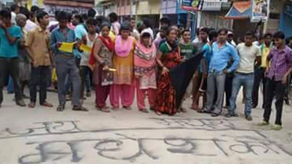 Madheshi people protest against the new constitution of Nepal and calling it a black day, in Nepalgunj, Nepal, on September 23, 2015.