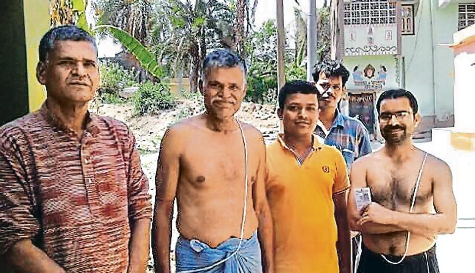 (From left) Villagers Rammoy, Ramsevak, Ramdhan, Ramcharan and Ramkanai in West Bengal's Paschim Sanabadh.