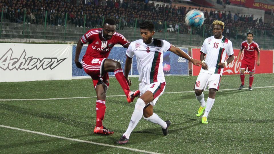 Shillong Lajong held Mohun Bagan to a 1-1 draw in their I-League encounter.