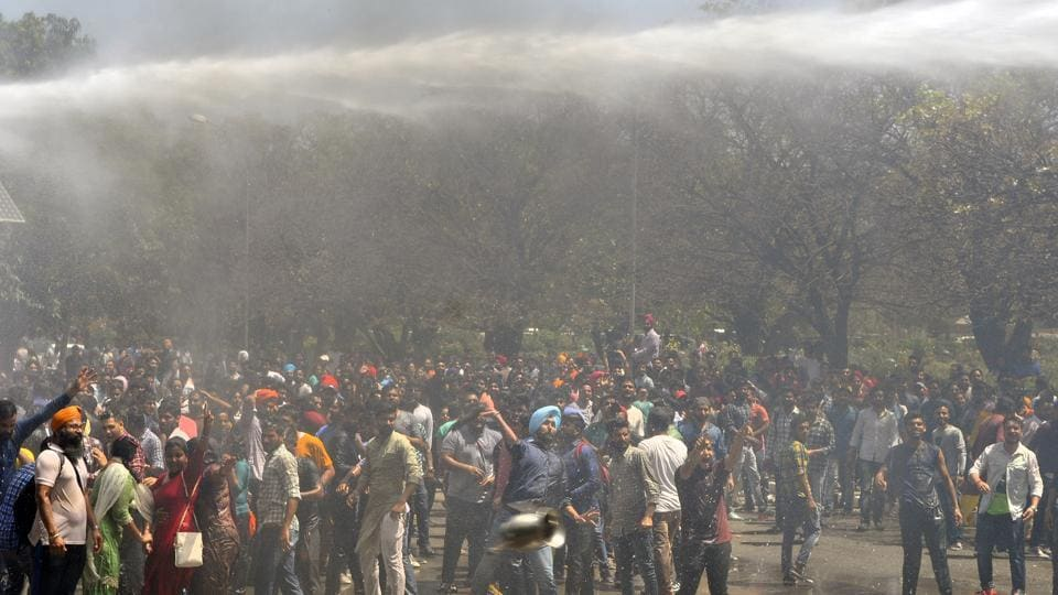 It was a day marred by violence as police and protesting students sustained injuries.