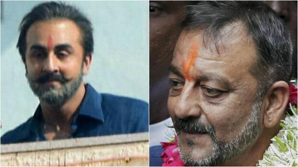 Ranbir Kapoor does look a lot like Sanjay Dutt in the new get-up.
