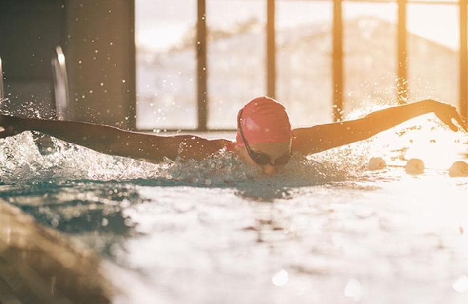 Swimming helps athletes run harder for longer, finds a new survey.