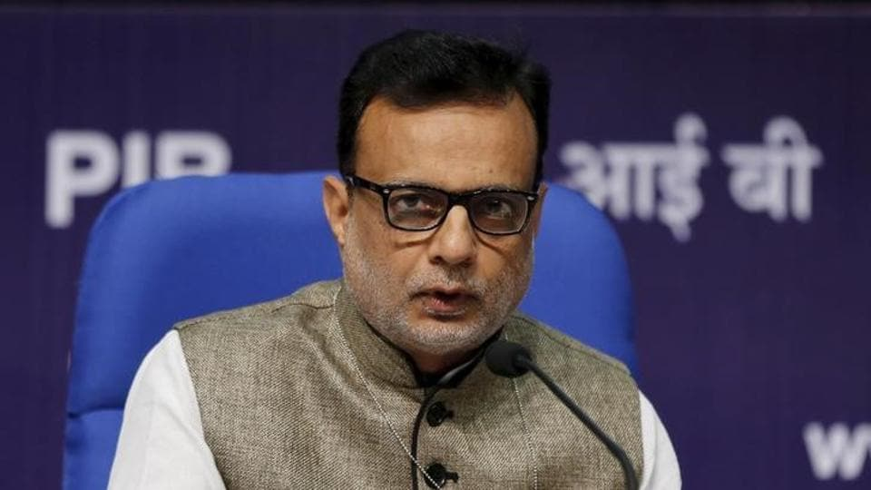 India's Financial Services Secretary Hasmukh Adhia answers a question during a news conference in New Delhi. The central and state governments were ready to roll out the GST, said Revenue Secretary Hasmukh Adhia