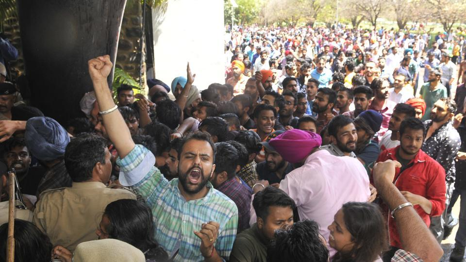 Panjab University,Sedition,Fee hike protest