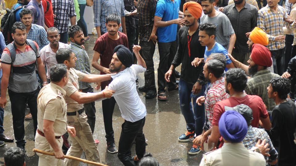 Police had clashed with students on the Panjab University campus on Tuesday as week-long protests against a 12.5% fee hike turned ugly.